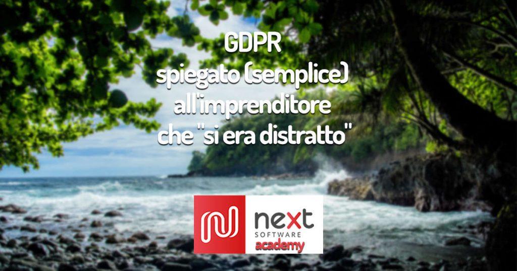 """Copertina dell'articolo """"GDPR spiegato semplice"""""""