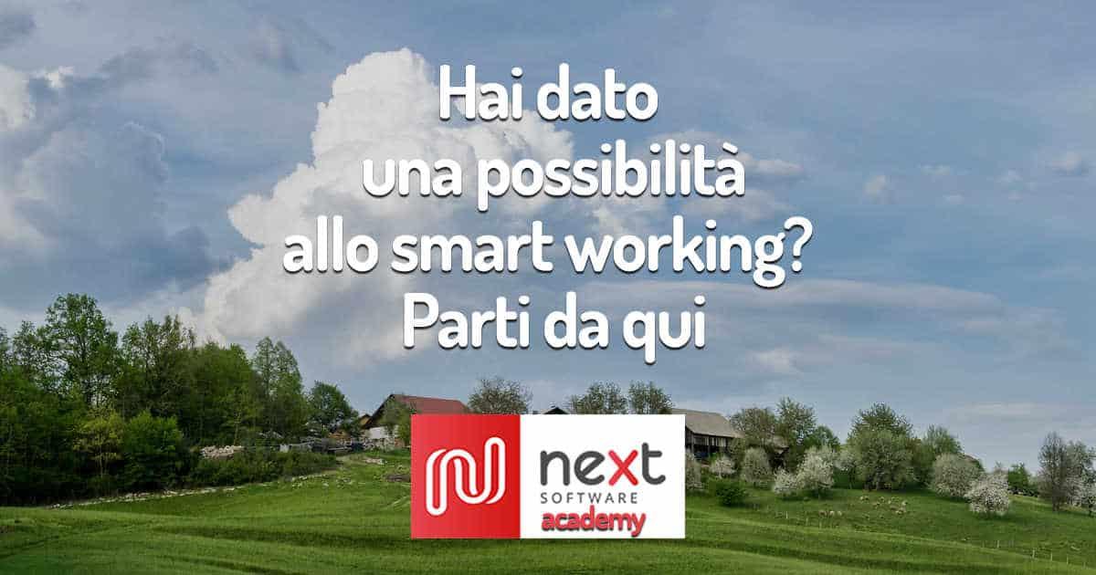 """Copertina del podcast """"Hai dato una possibilità allo smart working? Parti da qui"""""""